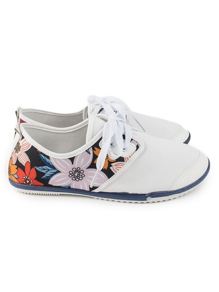 Superge Flowers white L88 WHITE-5